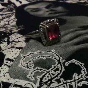 Beautiful Red RUBY Gothic 925 Sterling Silver RING
